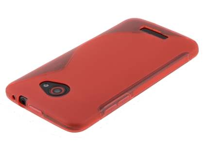 HTC Butterfly Wave Case - Frosted Red/Red