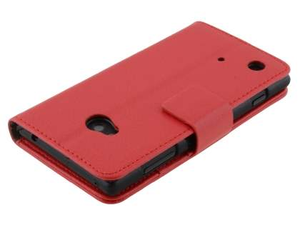 Nokia Lumia 720 Synthetic Leather Wallet Case with Stand - Red