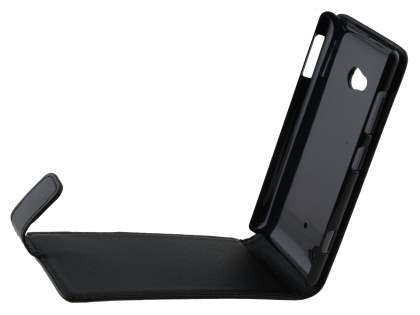 Synthetic Leather Flip Case for Nokia Lumia 720 - Classic Black
