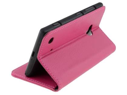 Nokia Lumia 720 Synthetic Leather Wallet Case with Stand - Pink