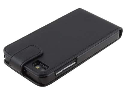 BlackBerry Z10 Synthetic Leather Flip Case - Classic Black