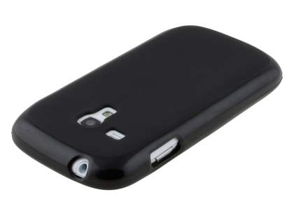 Frosted TPU Case for Samsung I8190 Galaxy S3 mini - Classic Black