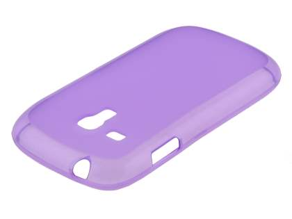 Frosted TPU Case for Samsung I8190 Galaxy S3 mini - Light Purple