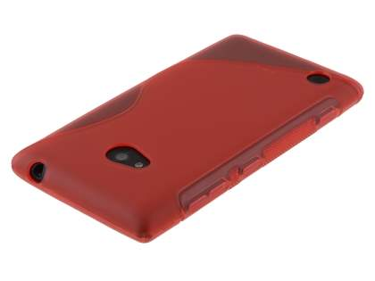 Nokia Lumia 720 Wave Case - Frosted Red/Red
