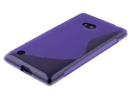 Nokia Lumia 720 Wave Case - Frosted Purple/Purple