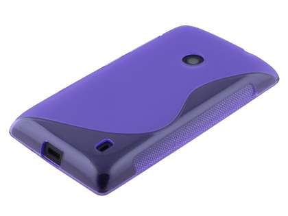 Nokia Lumia 520 Wave Case - Frosted Purple/Purple