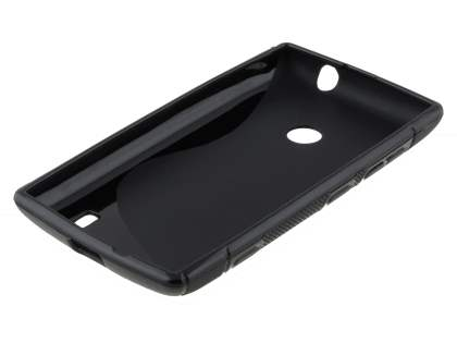 Nokia Lumia 520 Wave Case - Frosted Black/Black