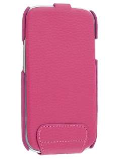 Slim Genuine Leather Flip Case for Samsung I9300 Galaxy S3 - Pink