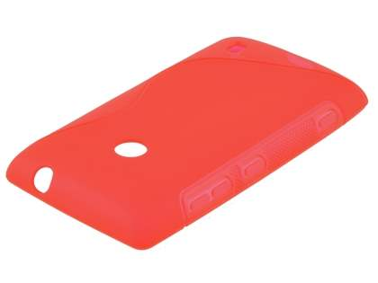 Nokia Lumia 520 Wave Case - Frosted Red/Red