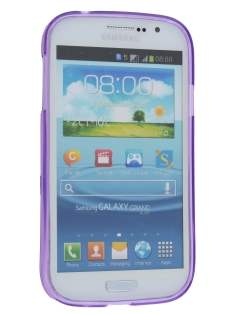 Samsung Galaxy Grand I9080 Frosted TPU Case - Frosted Purple