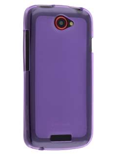 Frosted TPU Case for HTC One S - Frosted Purple/Purple Soft Cover