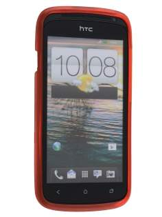 Frosted TPU Case for HTC One S - Frosted Red/Red