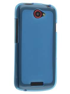 Frosted TPU Case for HTC One S - Frosted Blue/Blue Soft Cover