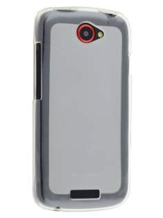 Frosted TPU Case for HTC One S - Frosted Clear/Clear Soft Cover