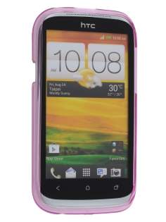 HTC Desire X T328e Frosted TPU Gel Case - Frosted Pink