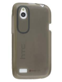 HTC Desire X T328e Frosted TPU Gel Case - Frosted black