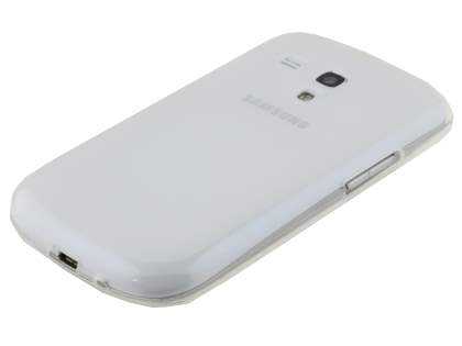 Frosted TPU Case for Samsung I8190 Galaxy S3 mini - Frosted White