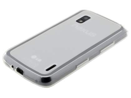 Frosted TPU Case for LG Google Nexus 4 E960 - Frosted/Clear