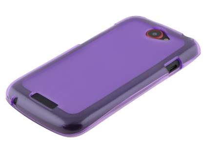 HTC One S Frosted TPU Case - Frosted Purple/Purple
