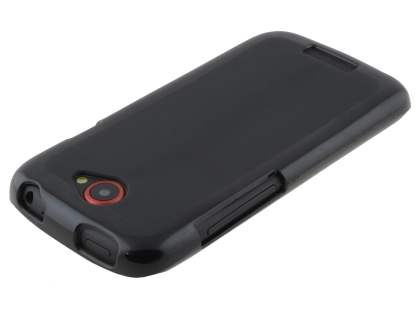 Frosted TPU Case for HTC One S - Classic Black