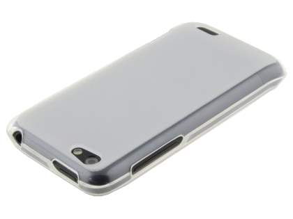 HTC One V Frosted TPU Gel Case - Frosted White