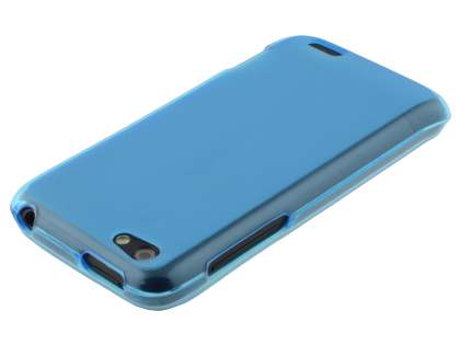 HTC One V Frosted TPU Gel Case - Frosted Blue
