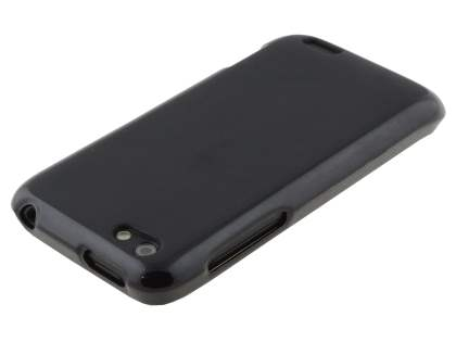 HTC One V Frosted TPU Gel Case - Classic Black