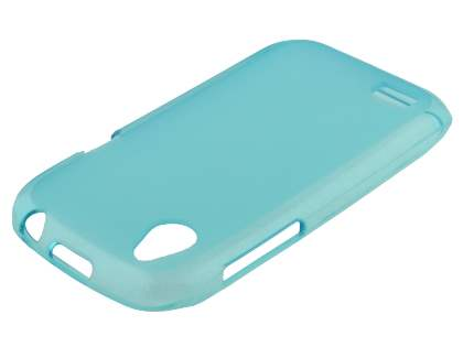 HTC Desire X T328e Frosted TPU Gel Case - Frosted Blue