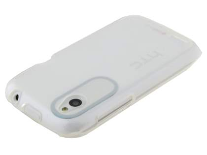 Frosted TPU Gel Case for HTC Desire X T328e - Frosted Clear