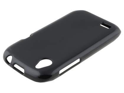 HTC Desire X T328e Frosted TPU Gel Case - Classic Black