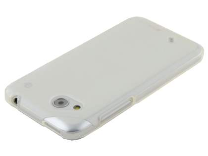 HTC Desire VC Frosted TPU Gel Case - Frosted White