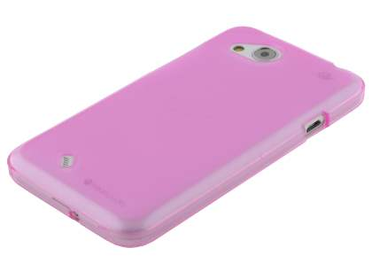 HTC Desire VC Frosted TPU Gel Case - Frosted Pink
