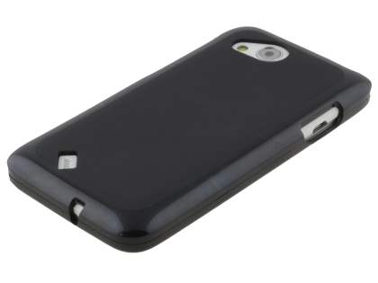 HTC Desire VC Frosted TPU Gel Case - Classic Black