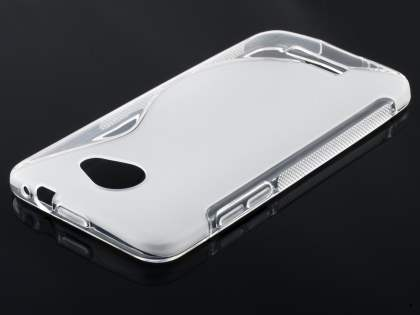 HTC Butterfly Wave Case - Frosted Clear/White