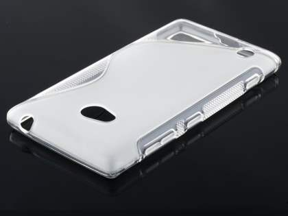 Nokia Lumia 720 Wave Case - Frosted Clear/Clear