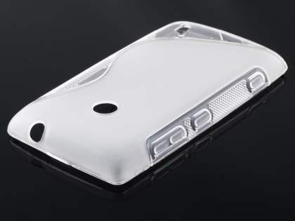 Nokia Lumia 520 Wave Case - Frosted Clear/Clear