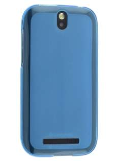 Frosted TPU Case for HTC One SV - Frosted Blue Soft Cover