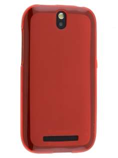 HTC One SV Frosted TPU Case - Frosted Red