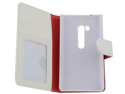Synthetic Leather Wallet Case with Stand for Nokia Lumia 810 - Pearl White