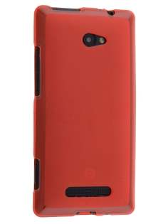 HTC Windows Phone 8X Frosted TPU Case - Red Soft Cover