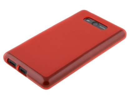 Frosted TPU Case for Nokia Lumia 820 - Red