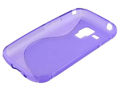Samsung Galaxy Trend Plus S7583T / S Duos S7562 Wave Case - Frosted Purple/Purple