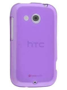 Frosted TPU Case for HTC Desire C A320E - Frosted Purple Soft Cover