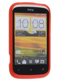 Frosted TPU Case for HTC Desire C A320E - Red