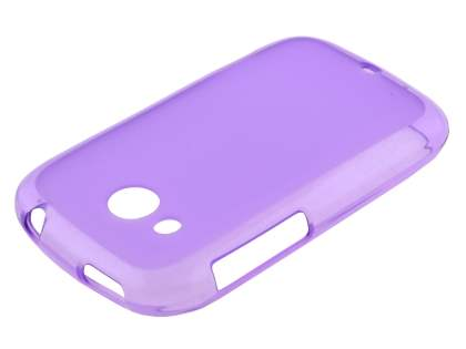 Frosted TPU Case for HTC Desire C A320E - Frosted Purple
