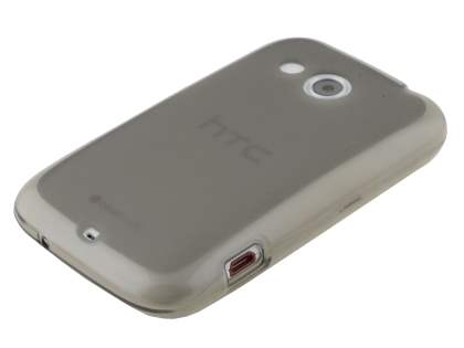 HTC Desire C A320E Frosted TPU Case - Frosted Grey