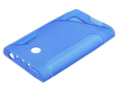LG Optimus L3 E400 / L2 E405 Wave Case - Frosted Blue/Blue