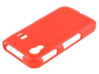 Frosted TPU Case for Samsung Galaxy Ace S5830 - Frosted Red