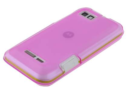 Frosted TPU Case for Motorola DEFY XT535 - Frosted Pink