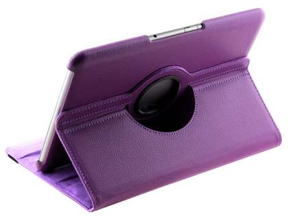 Samsung Galaxy Tab 10.1 VELOCITY Synthetic Leather 360° Swivel Flip Case - Purple